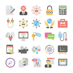 Seo and Digital Marketing Flat Colored Icons 4