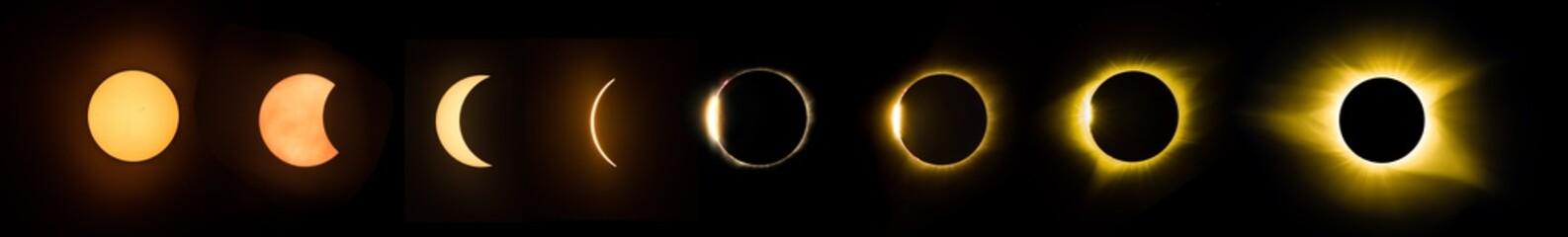 Solar Eclipse pahses - 2017