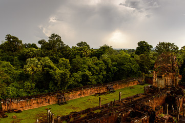 Cambodian Jungle near the Pre Rup, a temple at Angkor, Cambodia