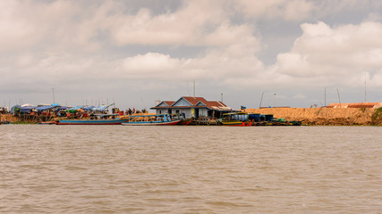 Tonle Sap (Great lake)  in Cambodia