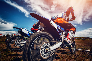 motorcross stunts bike.