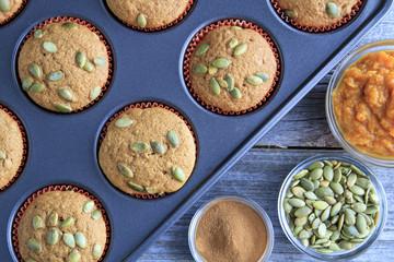 Fresh Baked Pumpkin Muffins