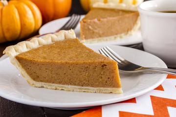Homemade Pumpkin Pie Slices