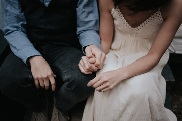 Elopement Couple holding hands