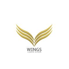 Golden wings label