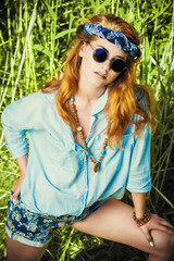 modern hippie girl