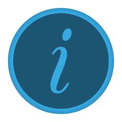 App Icon blau Info kursiv