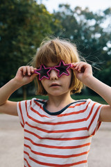 The Girl With The Star Glasses