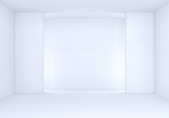 3d rendering. new empty white light interior room.
