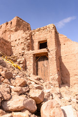 Part of the Castle of Ait Benhaddou, a fortified city, the former caravan way from Sahara to Marrakech. UNESCO World Heritage, Morocco