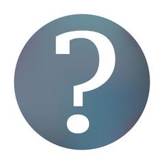 Farbiger Button - Fragezeichen rund