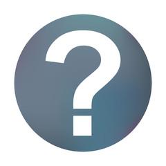 Farbiger Button - Fragezeichen eckig