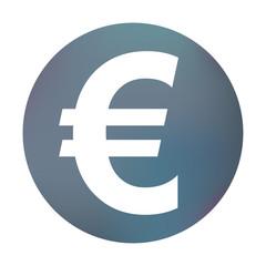 Farbiger Button - Eurozeichen dick