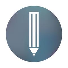 Farbiger Button - Bleistift