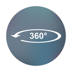 Farbiger Button - 360°-Symbol