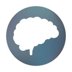 Farbiger Button - Gehirn