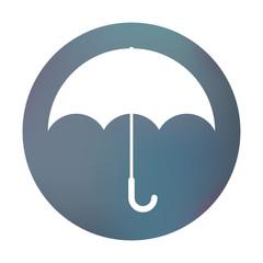 Farbiger Button - Regenschirm
