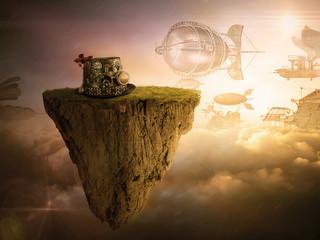 Steampunk cappello aviatore