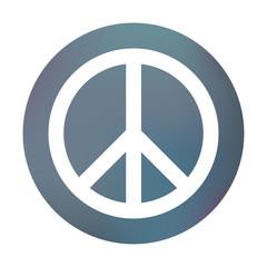Farbiger Button - Peace-Symbol