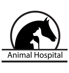 Horse, cat, and dog silhouette logo