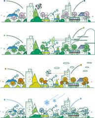 四季の街並み