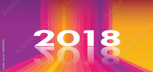 2018 logo design banner brochure calendar cover website multicolored perspective shapes background