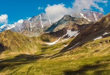 Swiss Alpine Landscape Wall mural