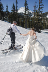 Skiing the Bride Away