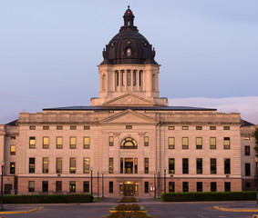 Sunrise South Dakota State Capital Building Hughes County Pierre SD