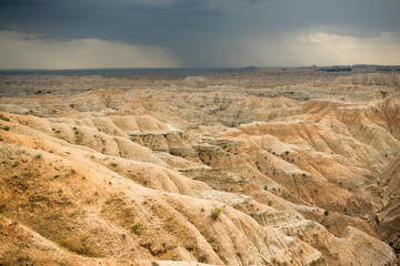 Storm Over Badlands National Park South Dakota Western Skies