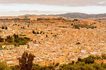 Architecture of Fez, the second largest city of Morocco. Fez was the capital city of modern Morocco until 1925 and