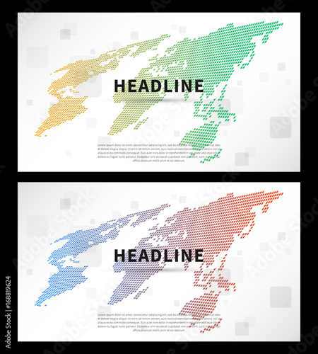 Abstract cover with colorful world map vector illustration title abstract cover with colorful world map vector illustration title pages and world map for presentation gumiabroncs Gallery