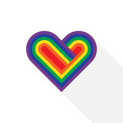 LGBT community heart symbol flat design