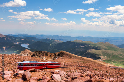 This Is A View From The Top Of Pikes Peak In Colorado Springs
