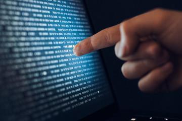Hand, programming, program, programmer, hacking, hacker, screen, computer, monitor, laptop