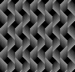Seamless Monochrome Pattern of dots. Modern Vector Background Design. Easy to Change the Colors.
