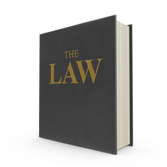 Law Book on white. 3D illustration