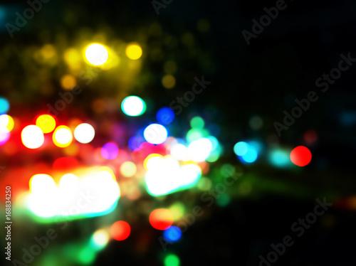 Bokeh Blur Night City Lights Background Raining City Night Rain