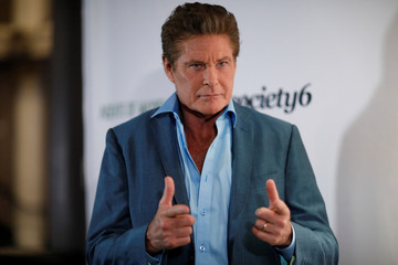 "Actor Hasselhoff poses at a tribute event ""Extraordinary: Stan Lee"" at the Saban Theatre in Beverly Hills"