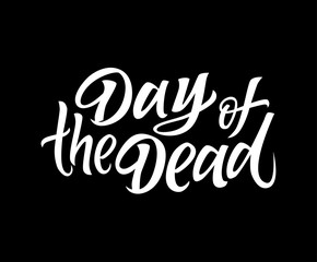Day of the Dead - vector drawn brush lettering