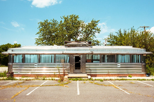 Abandoned vintage diner in New Jersey