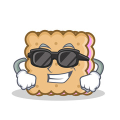 Super cool biscuit cartoon character style