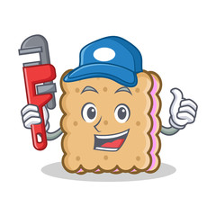 Plumber biscuit cartoon character style