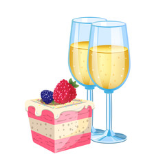Champagne with dessert