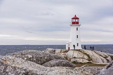 Leuchtturm von Peggy´s Cove bei Halifax in Kanada.