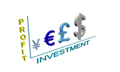 График инвестиции прибыль из символов валют 3д