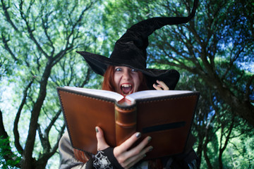 Picture of witch casting spell