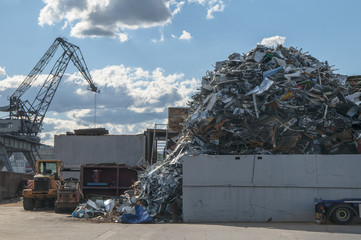 recycling yard for metal