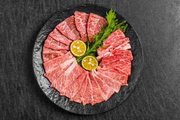 焼肉用高級和牛 Japanese beef for the finest grilled meat