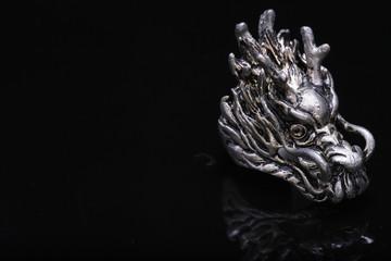 Dragon ring , silver ring dragon